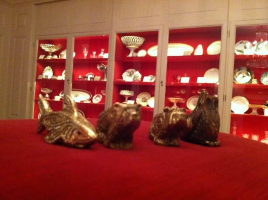 Totems loose in The White House China Room!