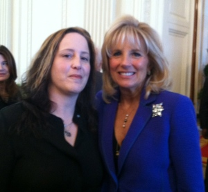 Dr. Jill Biden and I, at The White House!