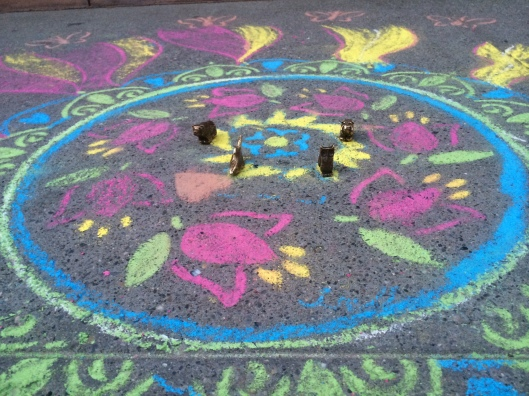 Sidewalk Chalk and Totems!