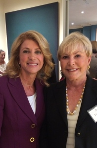 Senator Wendy Davis with my MOM!!